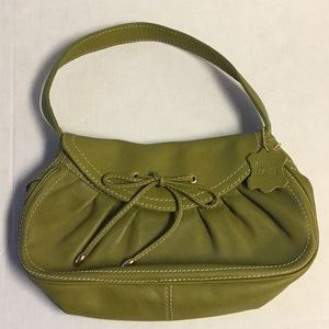 Olive Green Bloomingdale's Leather Sachel